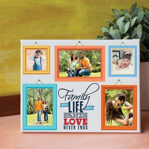 Family Personalized Canvas - Personalised Photo Frames Online