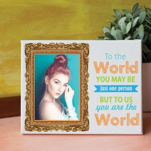 You are the World Personalized Canvas - Personalised Canvas Online