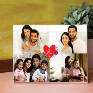 We love you Personalized Canvas - Personalised Photo Frames Online
