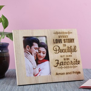 Customised Beautiful Love Story Frame - Personalised Photo Frames Online