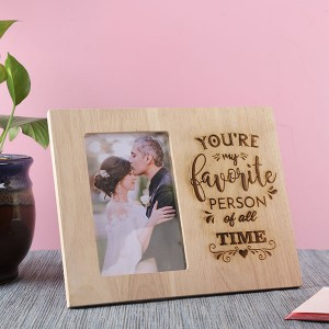 Customised Favourite Person Wooden Frame - Personalised Photo Frames Online