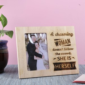 Customised Charming Woman Wooden Frame - Personalised Photo Frames Online