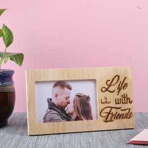 Customised Life with Friends Wooden Frame - Personalised Photo Frames Online