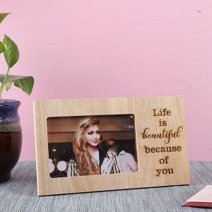 Customised Life is Beautiful Wooden Frame - Personalised Photo Frames Online