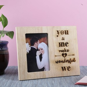 Customised You & Me Wooden Frame - Personalised Photo Frames Online
