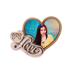 Heart with Love Fridge Magnet