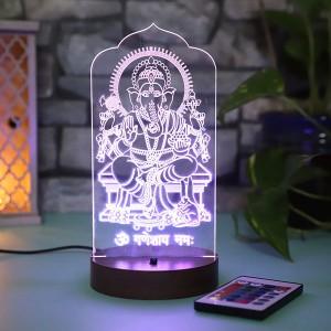 Personalised Ganpati led lamp - Diwali Gifts Online in India