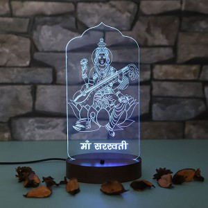 Personalised Maa Laxmi led lamp - Diwali Gifts Online in India