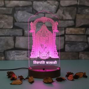 Personalised Tirupati led lamp - Diwali Gifts Online in India