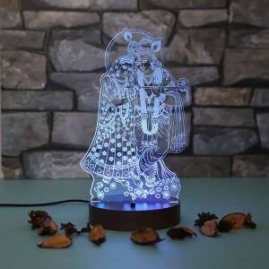 Personalised Radhakrishna led lamp