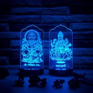 Laxmi Ganesha Led Lamp - Personalised LED Lamp Online