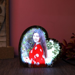 Personalised heartshaped led lamp - Personalised Photo Frames Online
