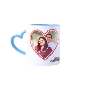 Personalised Heart Shape Handle Ceramic Mug