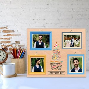 Personalized Wooden Birthday Frame - Personalised Photo Frames Online