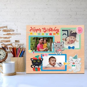 Personalized Cute Wooden Birthday Frame - Personalised Photo Frames Online