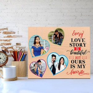 Favourite Love Story Wooden Photo Frame - Personalized Gifts Online - Create Your Own Custom Gifts