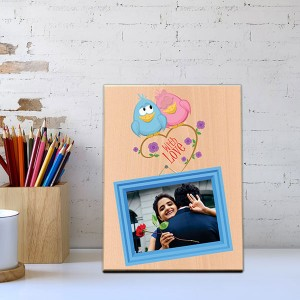 With Love Wooden Photo Frame - Personalised Photo Frames Online