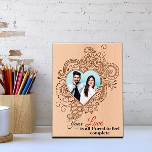 Complete Love Wooden Photo Frame - Personalized Gifts Online - Create Your Own Custom Gifts