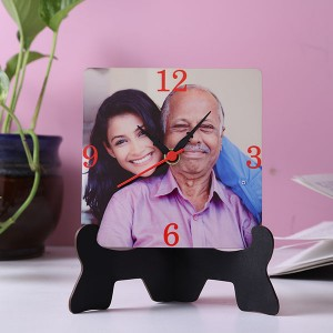 Elegant Table clock with stand - Personalised Photo Watch Online