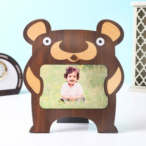 Customised Kids Bear Shape Photo Frame - Personalised Photo Frames Online