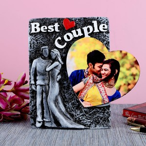 Personalised Best Couple Photo Frame with Heart - Personalised Photo Frames Online