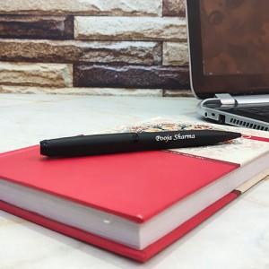 Personalised Black Matte Finish Pen