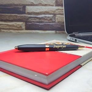 Personalised Golden Black Pen