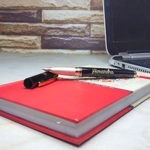 Personalised Exquisite Black Golden Pen