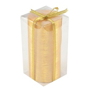 Rustic Golden Pillar Candle - Fragrant Candles Online