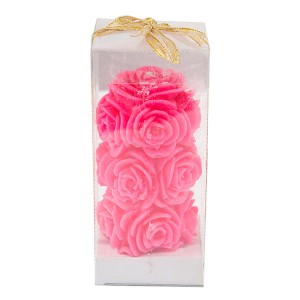 Rose Shaped Pillar Candle - Fragrant Candles Online