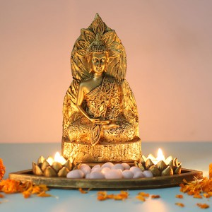 Divine Buddha in a Tray - T Light Holder Online
