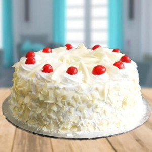 Tempting White Forest Cake - Send Cakes to Noida Online