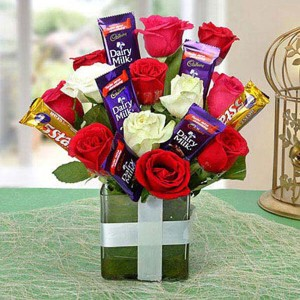 Supreme Choco Flower Arrangement - Flower Delivery in Bangalore