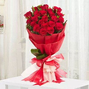 Romantic 20 Red Roses - Flower Delivery in Bangalore