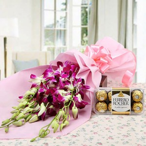 Choco Orchid Delight - Flower Delivery in Bangalore