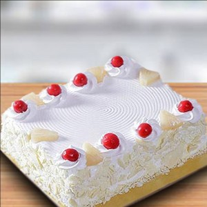 Sweet Pineapple Jinx Cake Half Kg - Send Cakes to Noida Online