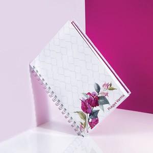 Personalised Bougainvillea Wiro Notebook