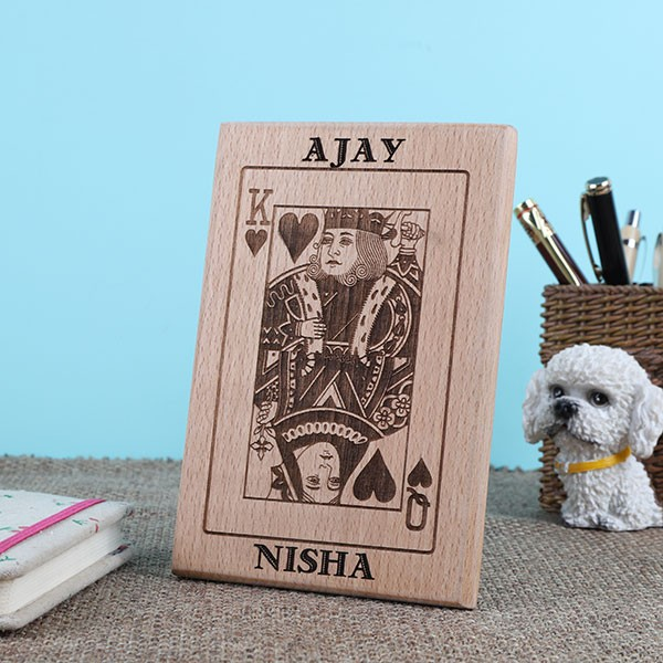 Personalised King and Queen Wooden Plaque