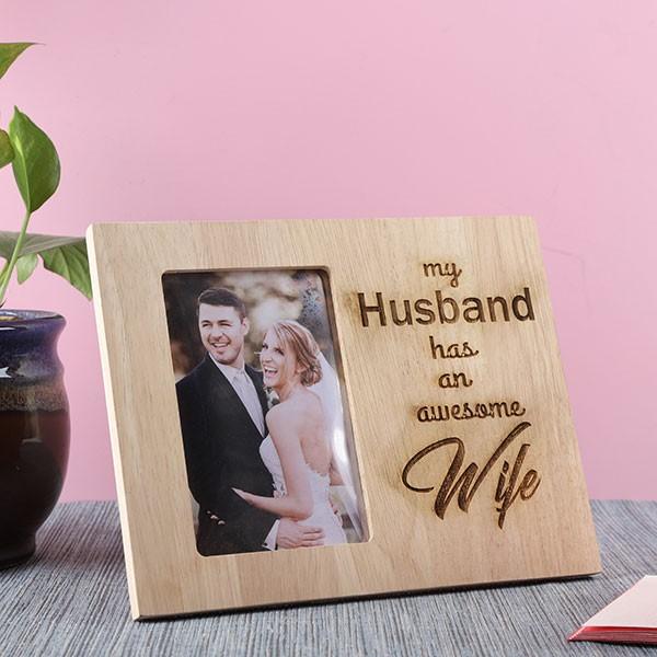 Customised Awesome Wife Photo Frame