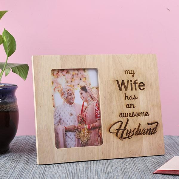 Customised Awesome Husband Photo Frame