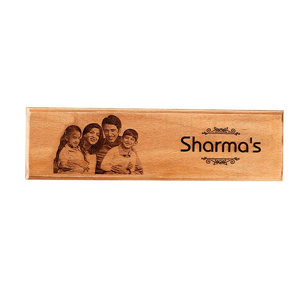 Customised Engraved Wooden Nameplate