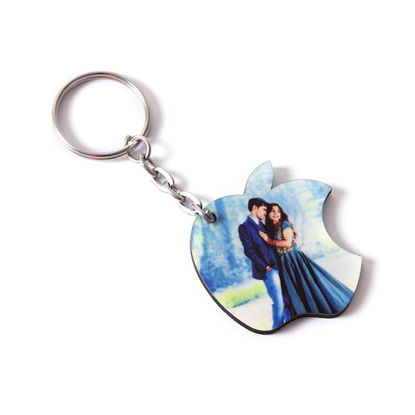 Personalised Apple Shaped Key Chain