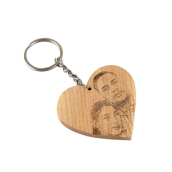 Engraved Heart Shape Key Chain