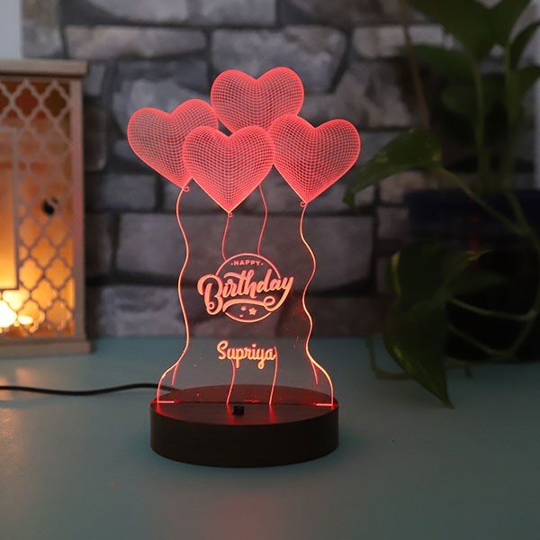 Personalised Birthday led lamp