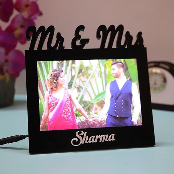 Customised Mr & Mrs Led Couple Lamp
