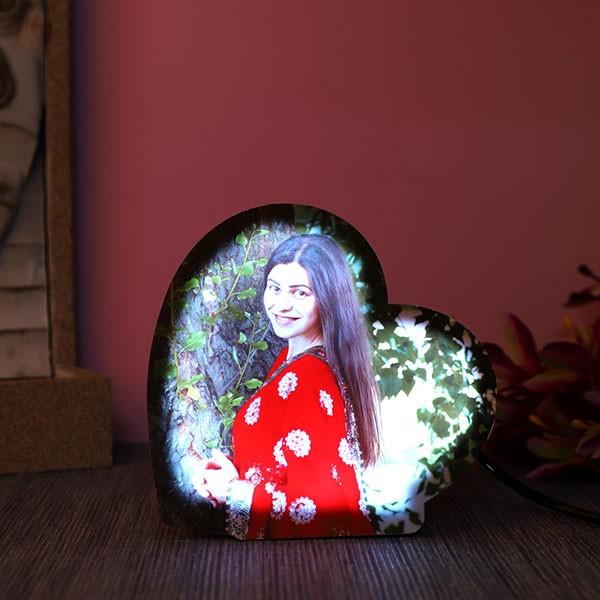 Personalised heartshaped led lamp