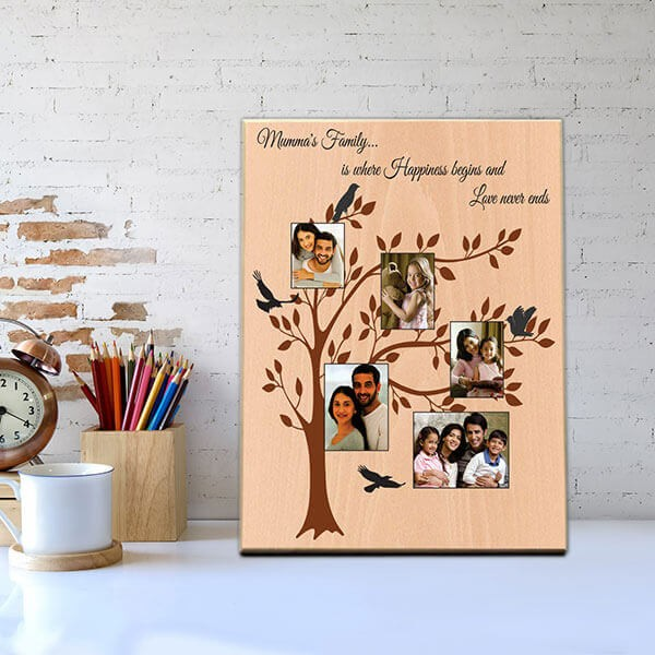 Family Tree Wooden Photo Frame
