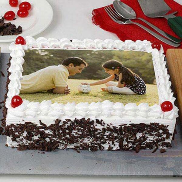 Happy Birthday Blackforest Photo Cake